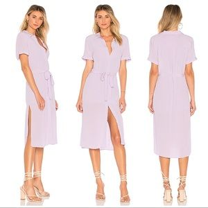 L'academie The Shirt Dress in Lilac Size XS